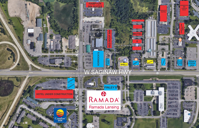 Ramada location map