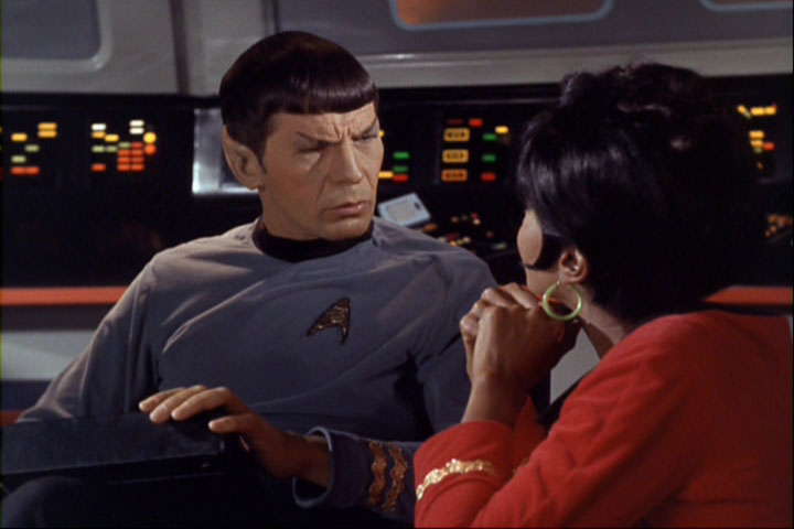 Spock tells Uhura Vulcan has no moon